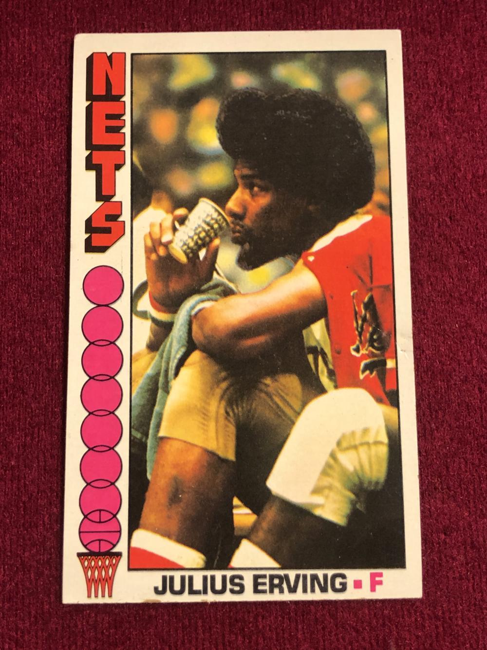1976 TOPPS #1 Julius Erving basketball card
