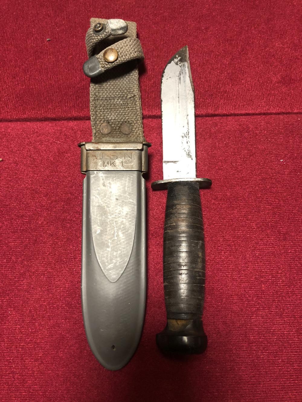 WWII knife & sheath
