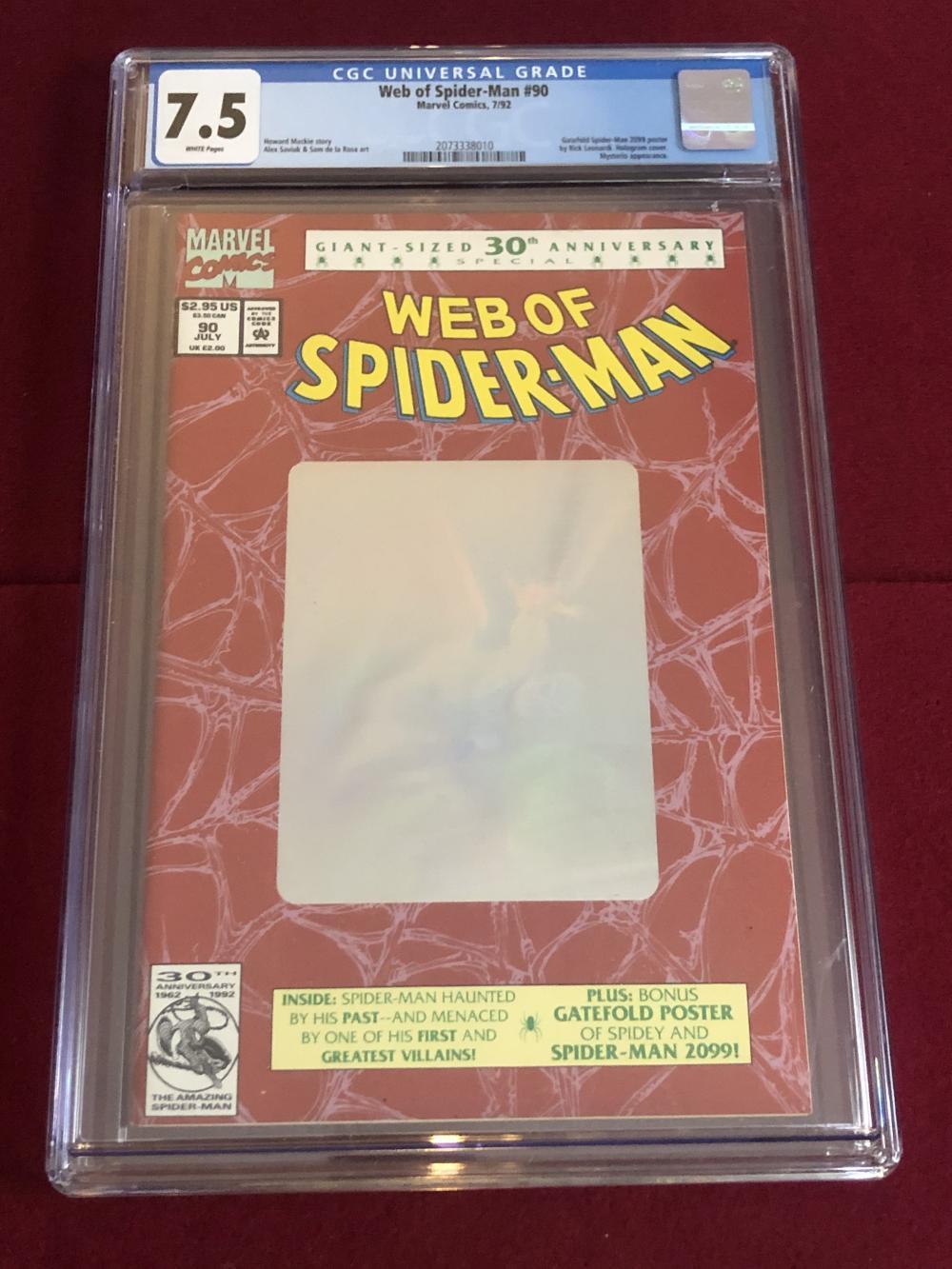 Web of Spider-man #90 Marvel comic - graded