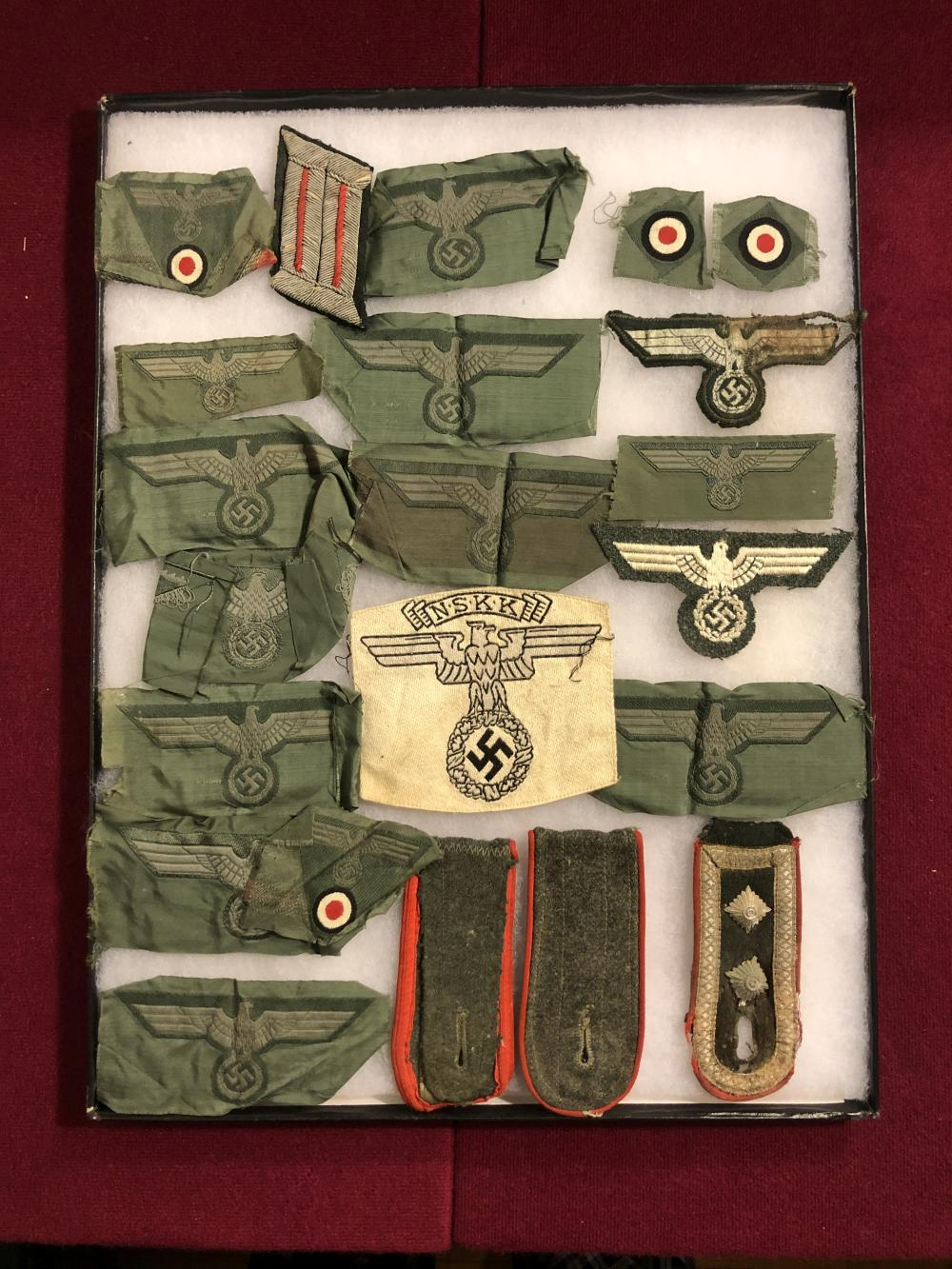 WWII German Nazi military patches, etc.