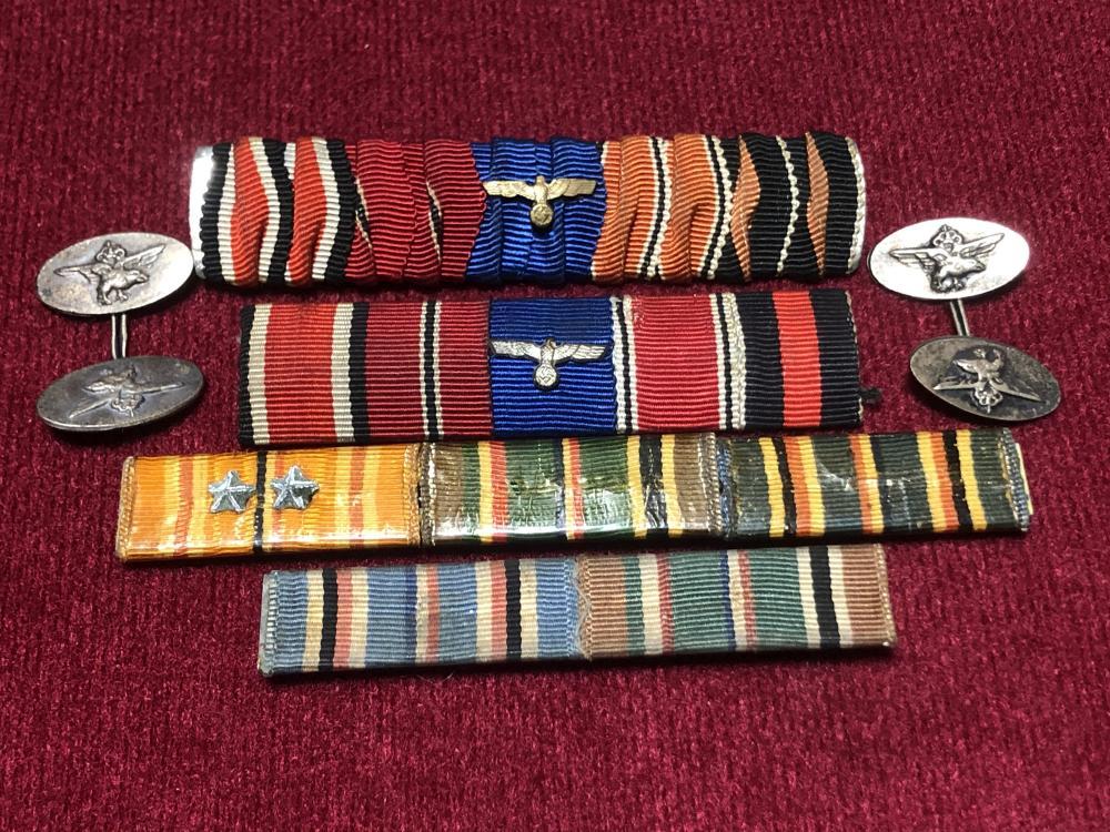 WWII German Nazi ribbons bars & cuff