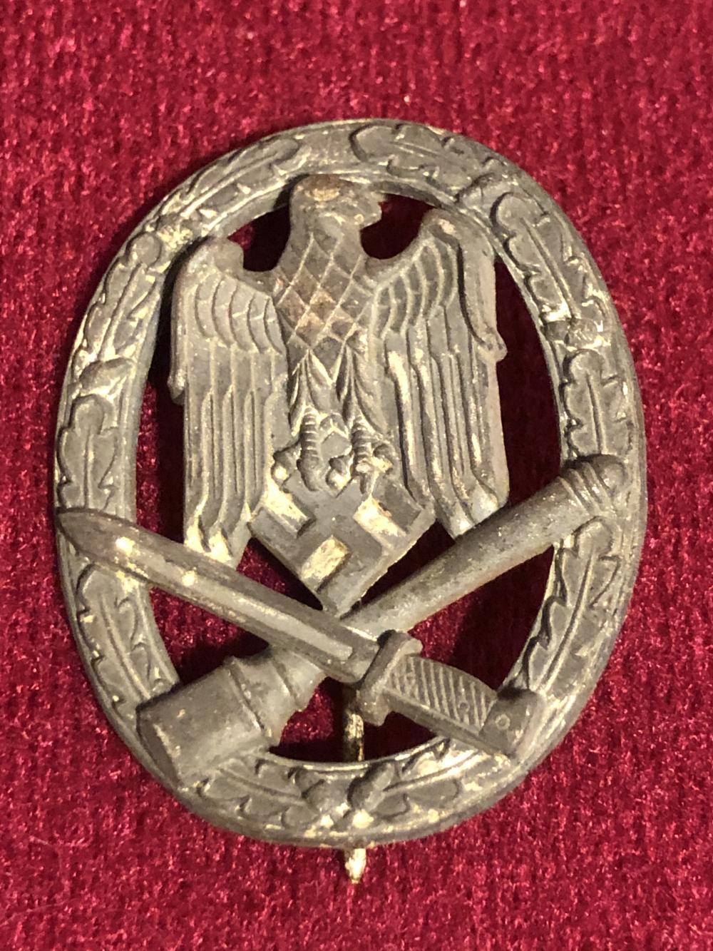 WWII German Nazi general assault badge