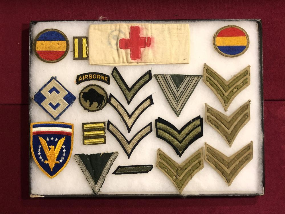Assortment of WWII military patches