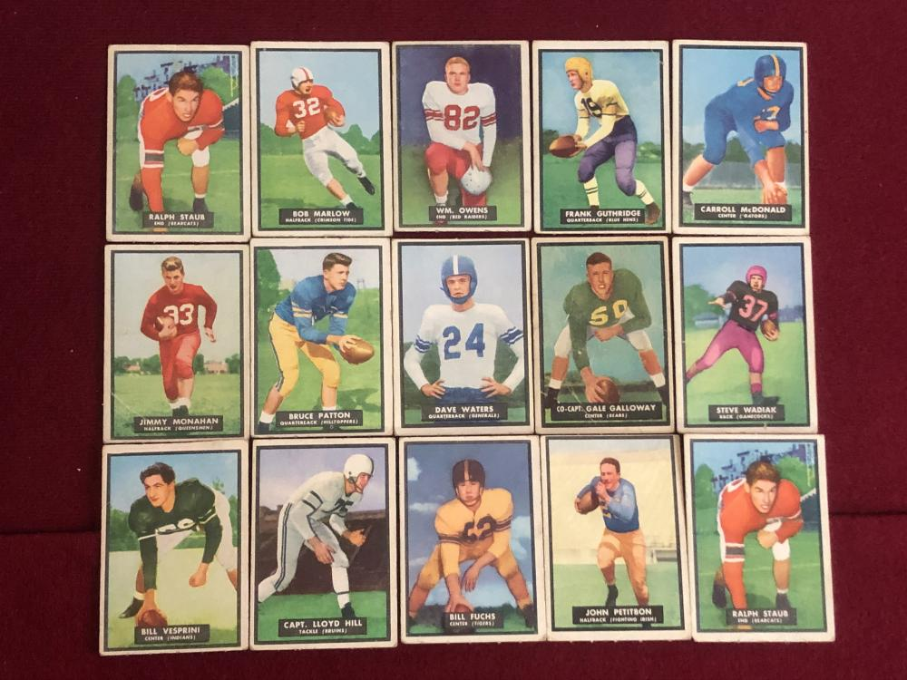 1955 TOPPS magic motion football cards
