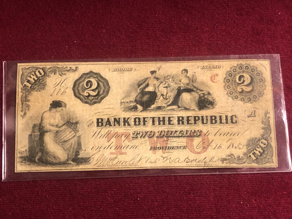 Bank of the republic two dollar note