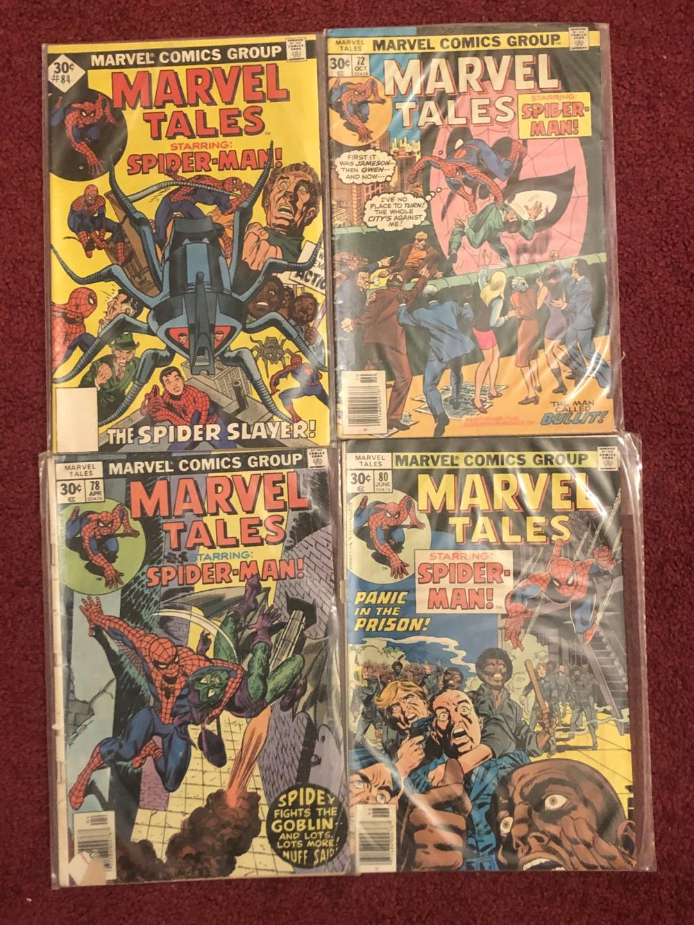 Four Spider-man marvel comic books