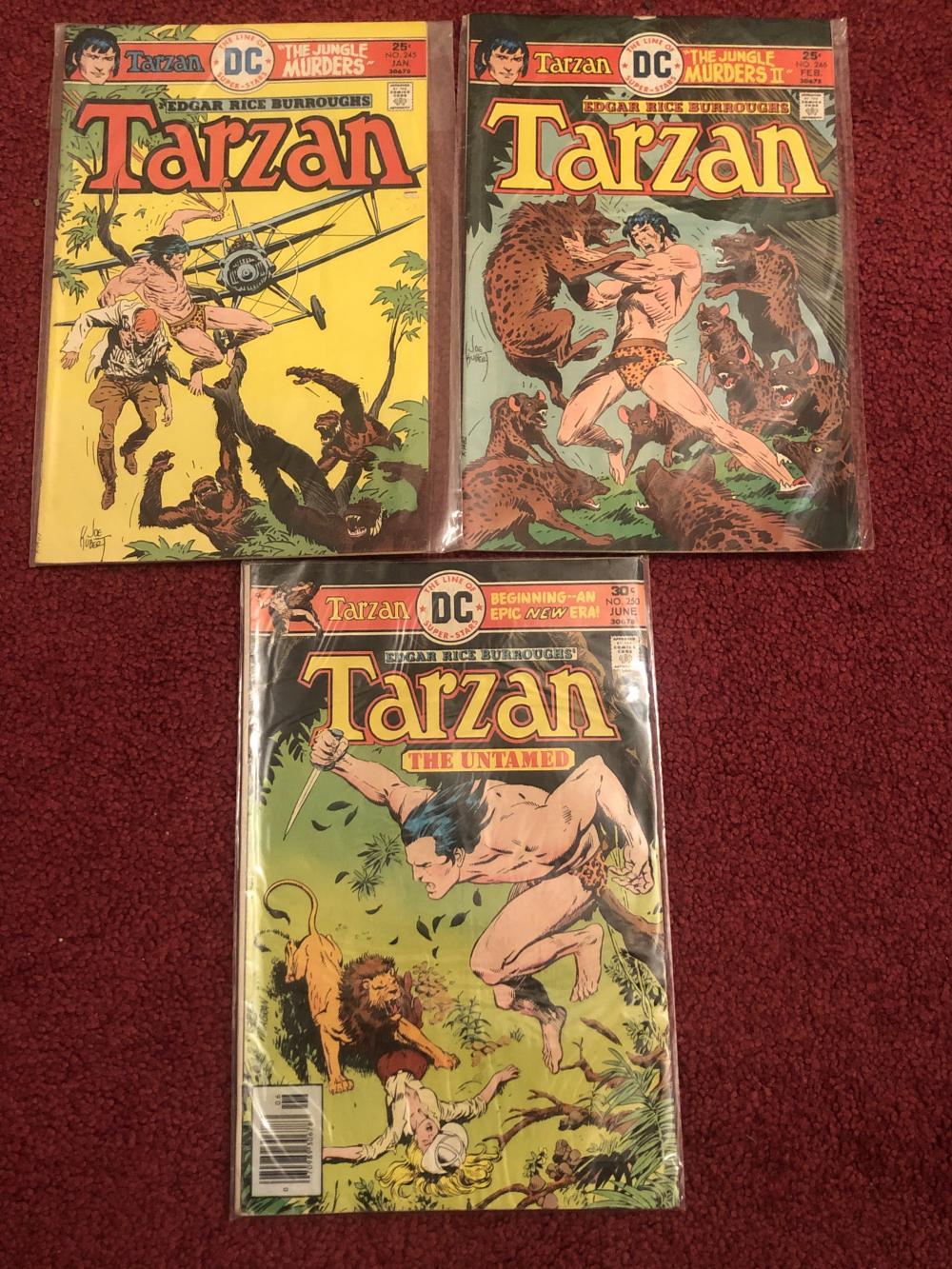 Three DC Tarzan comics #250, #245, #246