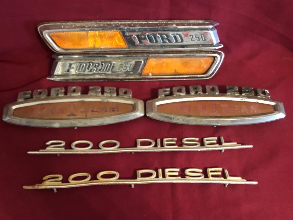 Vintage Ford truck emblems
