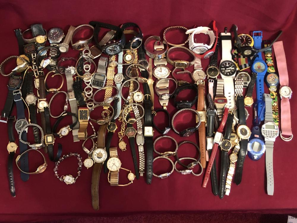 Large lot of old, vintage, & collectible watches