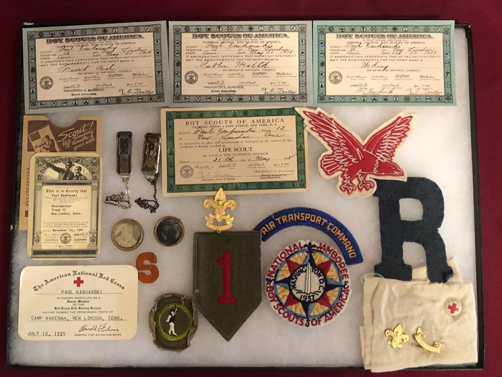 Older Boy scout & military items