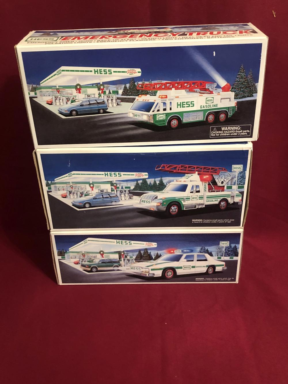 Three new in box Hess collectible vehicles