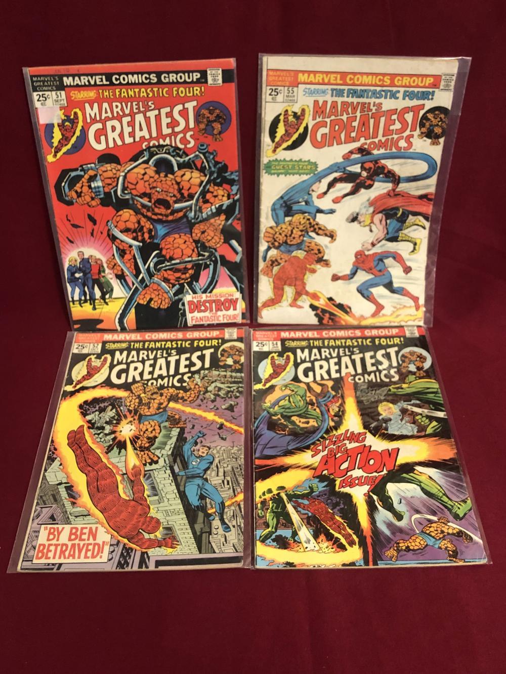Four Marvels greatest comics comic books