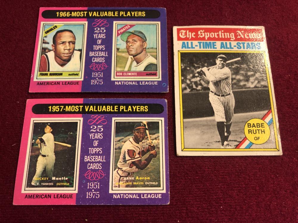 70's baseball sports cards