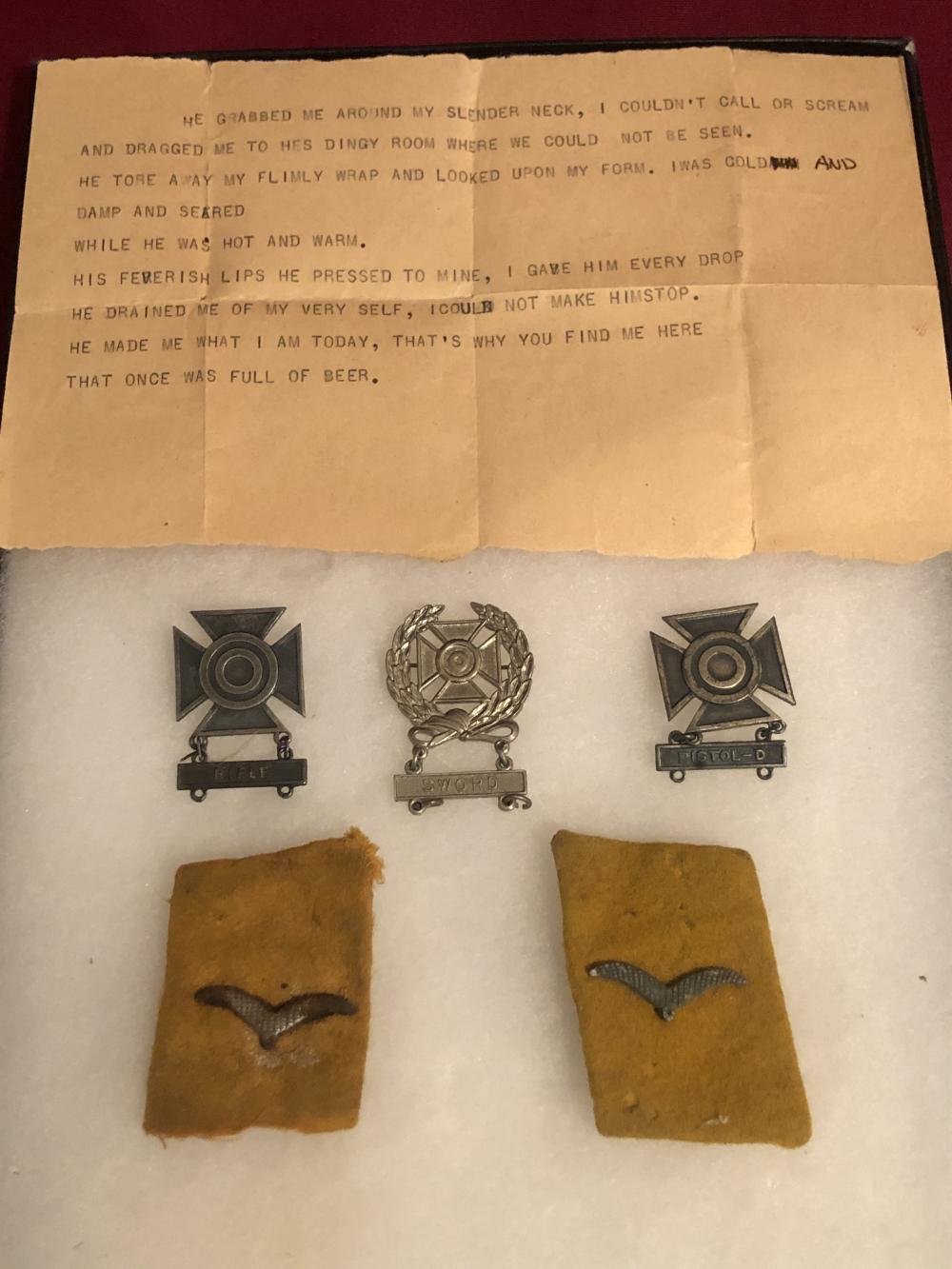 WWII military items medals & ephemera