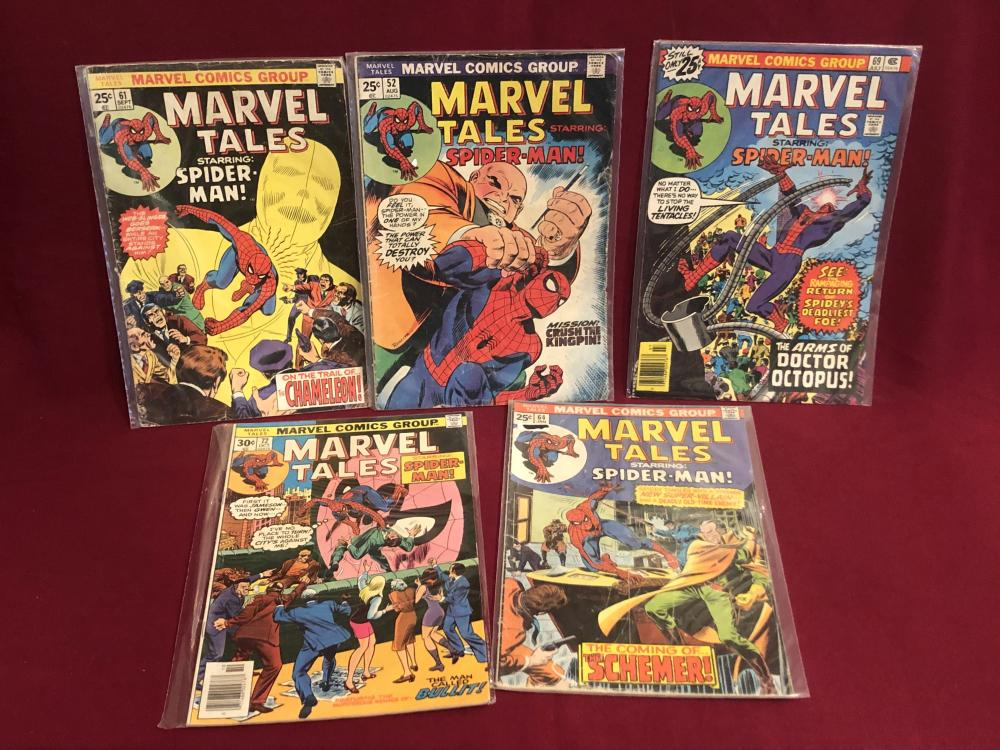 Five vintage Marvel tales Spider-Man comic books
