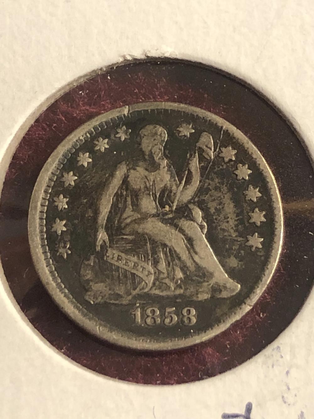 1858 U.S. half dime