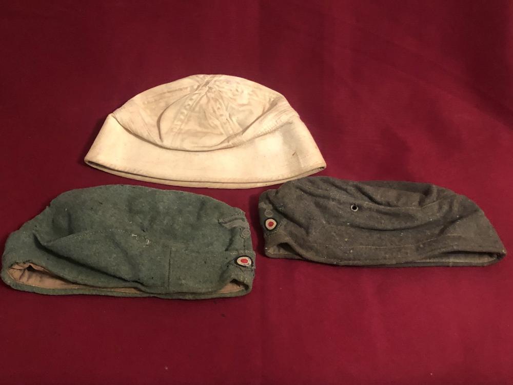 WWII German etc. field & navy caps