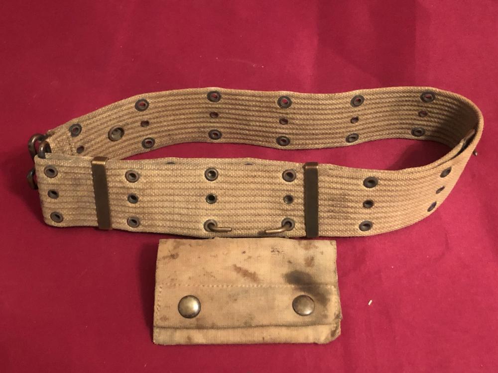 Early WWII U.S. army/U.S.M.C. ammo belt