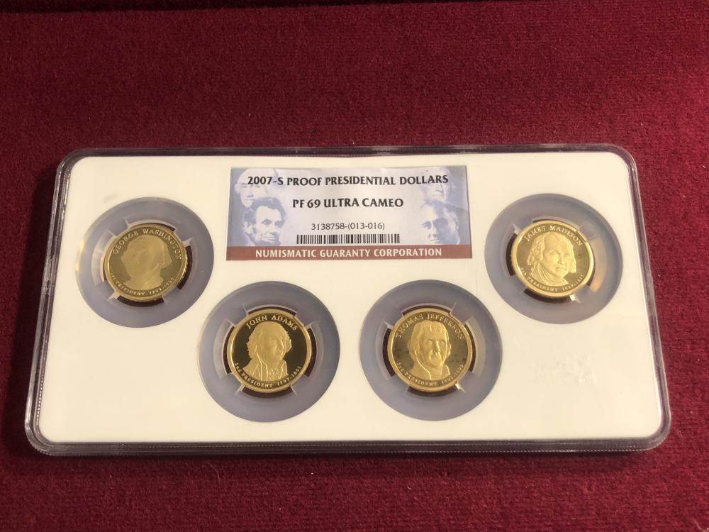 Graded 2007-S proof presidential dollar