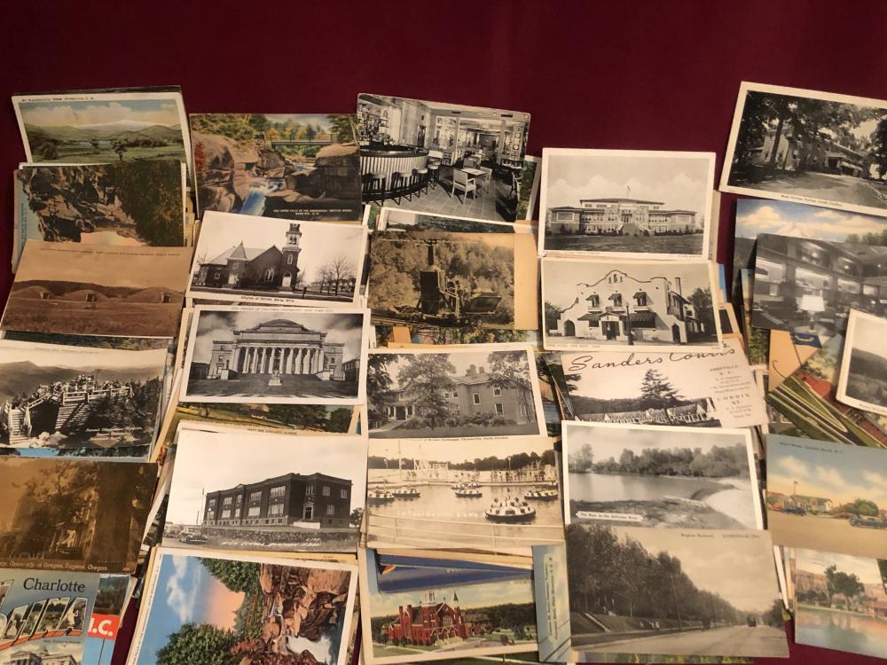 Large lot of vintage postcards - including real photo