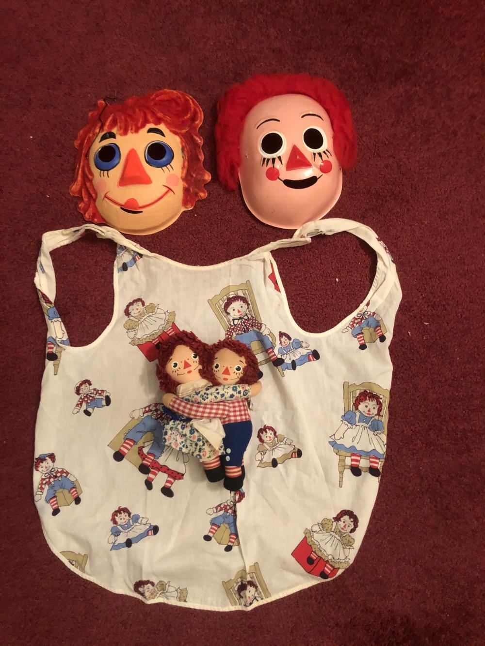 Vintage Raggedy Ann & Andy Halloween masks