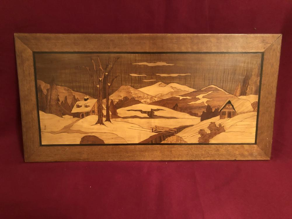 Wooden inlay art piece - Joseph Schady