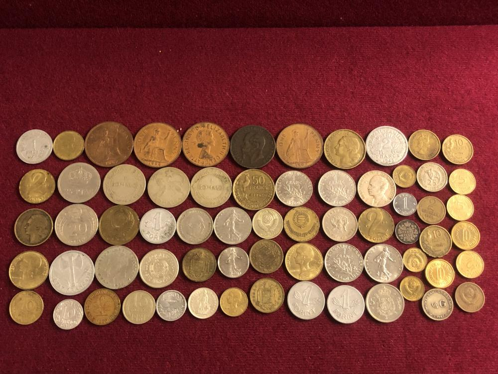 Large lot of older foreign coins - possible silver