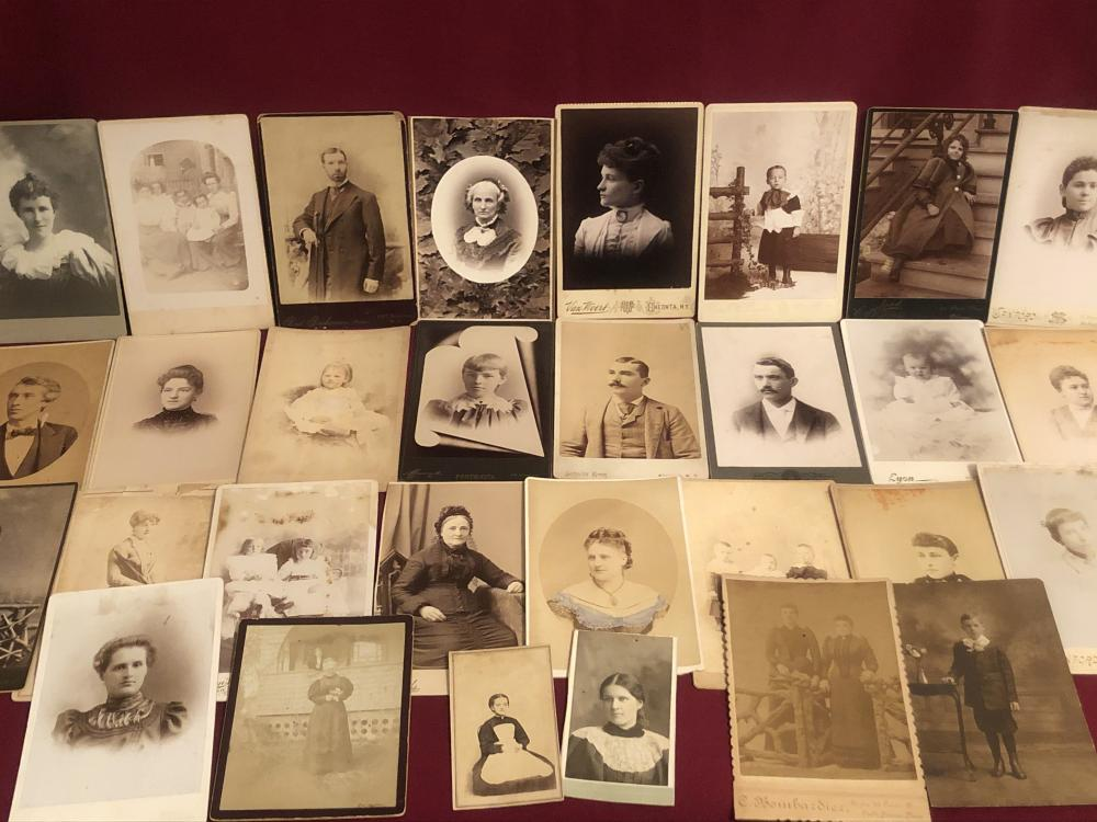 Large lot of card back cabinet card photos etc.