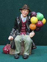 ROYAL DOULTON GLAZED CERAMIC FIGURE- THE BALLOON MAN, HN1954