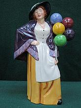 ROYAL DOULTON GLAZED CERAMIC FIGURE- BALLOON LADY, HN2935