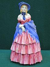ROYAL DOULTON GLAZED CERAMIC FIGURE- A VICTORIAN LADY, HN728