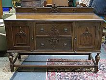 CARVED OAK 1920s/30s SIDEBOARD