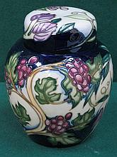 MOORCROFT 'THE TEMPEST' LIMITED EDITION CERAMIC GINGER JAR, SIGNED BY PHILIP GIBSON, No. 240/250, APPROXIMATELY 16cm HIGH