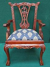 REPRODUCTION UPHOLSTERED MINIATURE HEPPLEWHITE STY