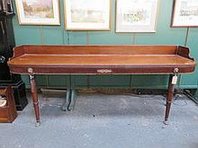 GOOD QUALITY GEORGIAN MAHOGANY SERVING TABLE WITH
