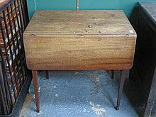 ANTIQUE MAHOGANY DROP LEAF PEMBROKE TABLE FITTED W