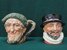 TWO ROYAL DOULTON CHARACTER JUGS- BEEFEATER AND OW