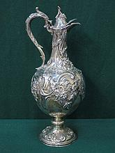 EARLY VICTORIAN HALLMARKED SILVER REPOUSSE DECORAT