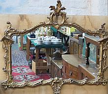 LARGE HEAVILY GILDED ORNATE VICTORIAN STYLE WALL M