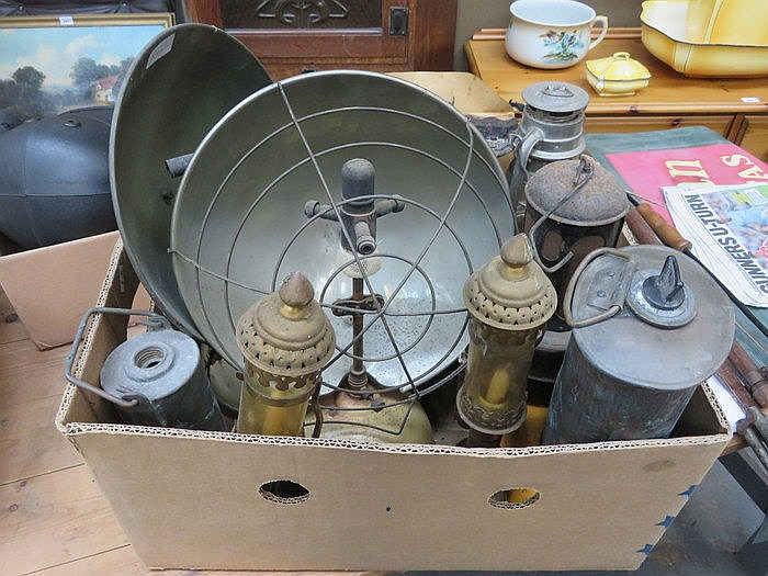 PARCEL OF VARIOUS LAMPS AND HEATERS, ETC.