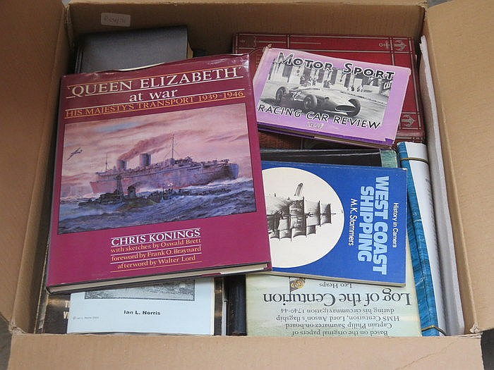 PARCEL OF MIXED VOLUMES INCLUDING SHIPPING, MOTOR SPORTS, ETC.