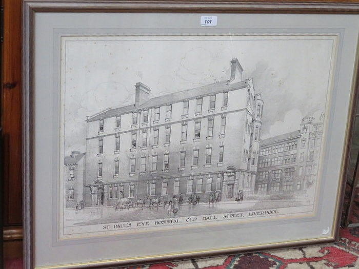 FRAMED PRINT- ST PAUL'S EYE HOSPITAL, OLD HALL STREET, LIVERPOOL, APPROXIMA