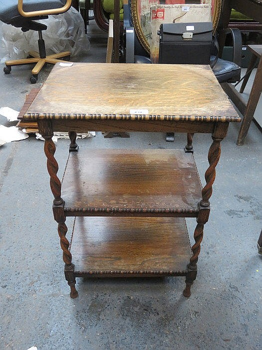 SMALL BARLEY TWIST TWO TIER OCCASIONAL TABLE