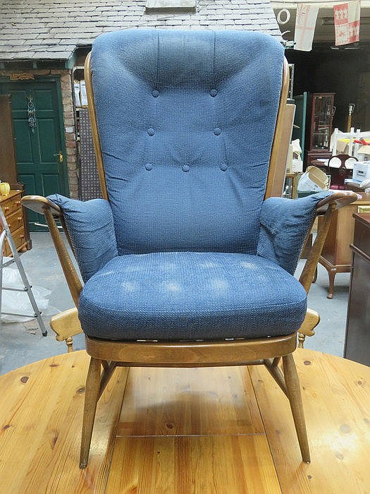 ERCOL HIGH BACK ARMCHAIR