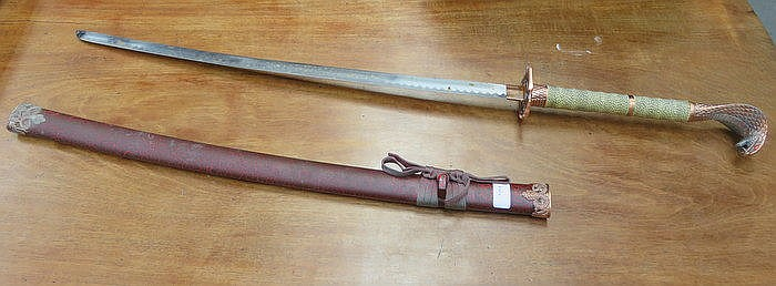 ORNAMENTAL DISPLAY SWORD WITH SCABBARD