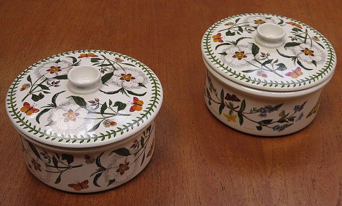 PAIR OF PORTMEIRION THE BOTANIC GARDEN SOUP TUREENS AND COVERS