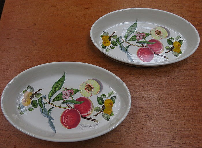 PAIR OF PORTMEIRION OVAL CASSEROLE DISHES
