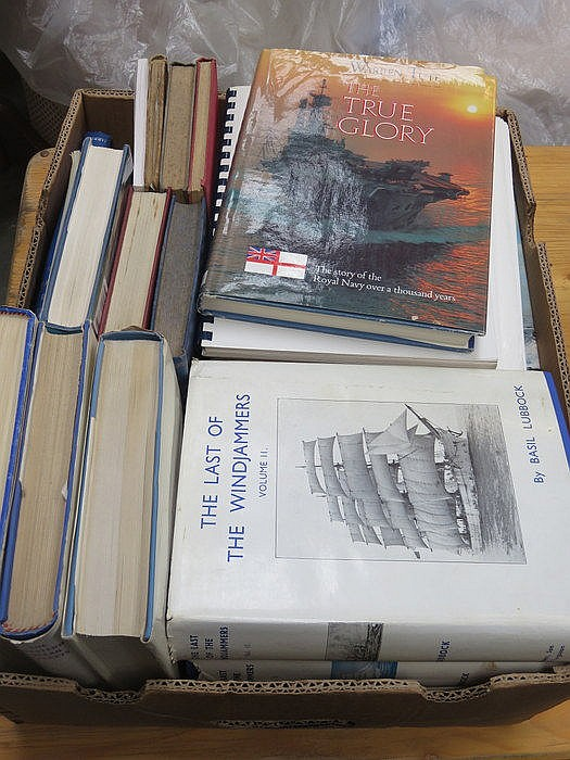BOX LOT CONTAINING MAINLY MARITIME RELATED VOLUMES