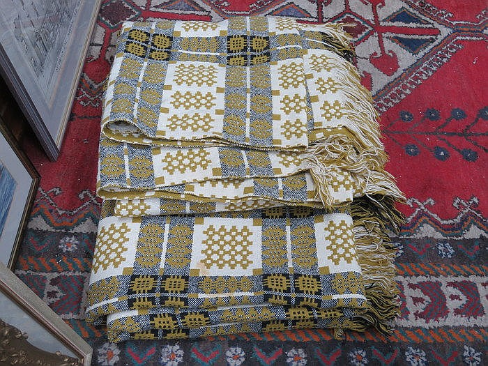 PAIR OF DECORATIVE WELSH BLANKETS