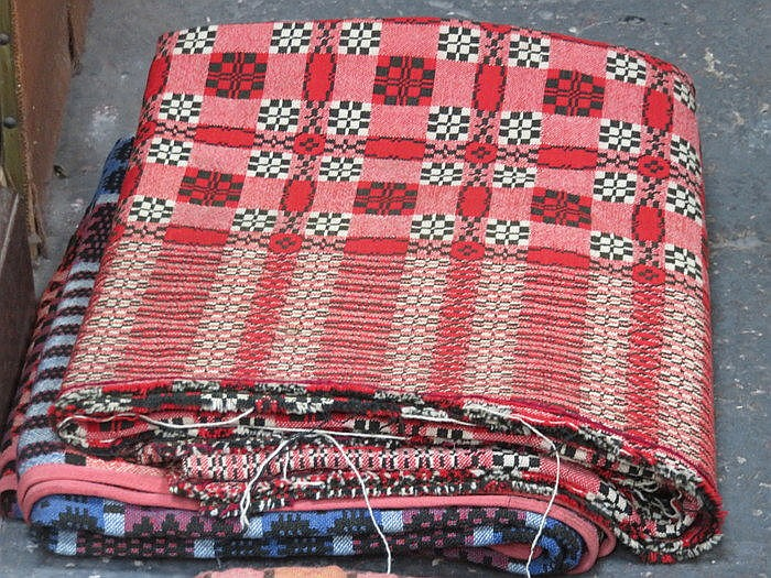 TWO DECORATIVE WELSH BLANKETS